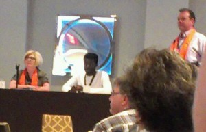 Desmond Cole and Cheri de Novo at the Equality Lunch