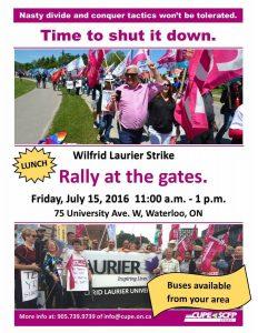 Wilfrid Laurier Strike